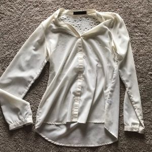Cream blouse